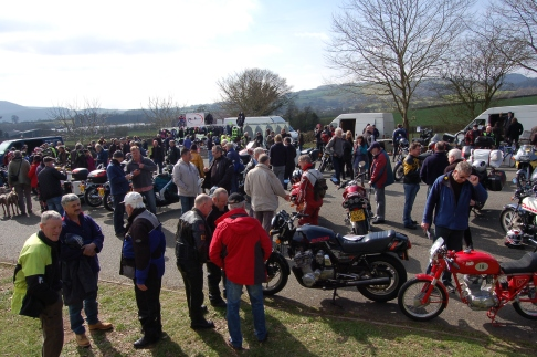 Not a bad crowd for a village bike show. £7000 was raised for the local school. What a fine effort.