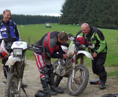 Smiles all round as the the team optimistically set about finding the source of the problem.