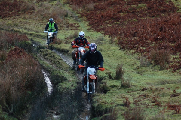 The infamous Water Breaks Its Neck in Powys.  If you don't like riding ruts this one's probably not for you.