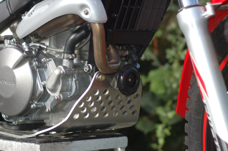 Montesa sump guard and horn